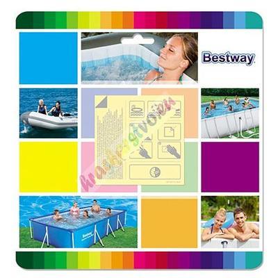 Sada Bestway® 62091, 65x65 mm, na opravu, 10 ks