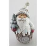 Postavicka Santa držiaci stromček, polyresin, 15 cm