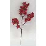 Vetvicka Berries.Red6, červená, 28 cm, bal. 6 ks