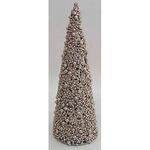 Dekoracia TreeCone30.Champ, šampaň, bobuľky, 30 cm