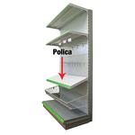 Polica Racks H10 1250x370x0.8 mm s držiakmi
