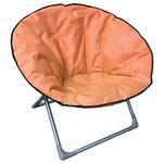 Stolicka LEON, oranžová, skladacia, 82x82x75 cm, Oxford 600D