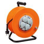 Kábel Strend Pro CR038, 4 zásuvky, L-20 m, IP44, guma, predlžovací, na bubne
